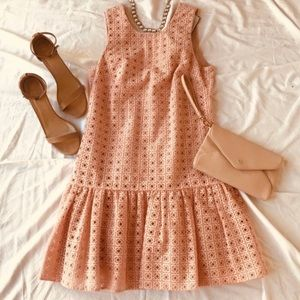 J. Crew 'Anna' Dress in organza eyelet light pink